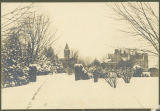 Bryn Mawr College campus general view, winter