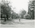 People walking on the Bryn Mawr College campus