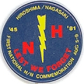Lest We Forget. Hiroshima.Nagasak.i.45. 81. First National H/N Commemoration. Aug 5-9.