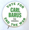 Vote For Carl Barus For Congress. End The War