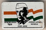 Jawaharlal Nehru; 1889-1989 [some text in Indian]