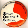 Speak Out For Survival. International Disarmament Week. Oct. 24-31, 1981.