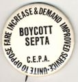 Boycott SEPTA. Unite To Oppose Fare Increase & Demand Improved Service. C.E.P.A.