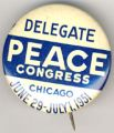 Delegate. Peace Congress. Chicago. June 29-July 1, 1951.