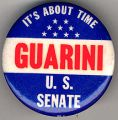 Guarini. U.S. Senate. It's About Time.