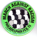March Against Racism. Philadelphia Feb. 15. Unity and Equality