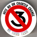 Vote No On Charter Change. No Third Term
