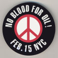 No Blood for Oil!  Feb. 15 NYC.