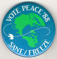 Vote Peace '88.  Sane/Freeze