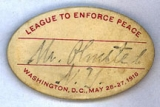 League to Enforce Peace; Mr. Olmsted, N.Y.; Washington, D.C., May 26-27, 1916