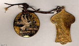 Medal on left: Peace Congress; Glasgow, 1901; Medal on right: IX Congress Universel De La Paix;...