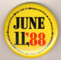 June 11, '88. Support the United Nations Third Special Session on Disarmament! March for Peace....