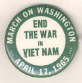 End The War in Viet Nam. March on Washington. April 17, 1965