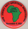 New Jersey Anti-Apartheid Mobilization. Free South Africa. November 9, 1985.