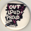Out Loud + Proud. New York's Lesbian-Gay Pride. June 29-30, 1991.