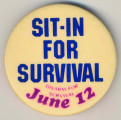 Sit-In for Survival. Disarm for Survival. June 12.