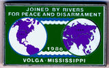 Joined by River for Peace and Disarmament. 1986. Volga. Mississippi.