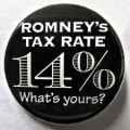 Romney's Tax Rate. 14%. What's yours?