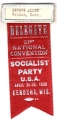 Delegate; 21st National Convention; Socialist Party; April 21-23, 1938; Kenosha, Wis.