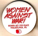 Women Against War!; Women Act for Peace, Philadelphia, PA
