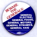 Beware the Generals: General Electric, General Foods, General Motors, General Dynamics, General...