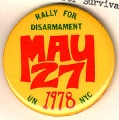May 27, 1978; Rally For Disarmament; UN; NYC