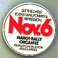 Set the Dates to End War, Poverty & Repression; Nov. 6; March; Rally; Organize; People's...