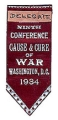 tag: Delegate; Ribbon: Ninth Conference; Cause & Cure of War; Washington, D.C.; 1934