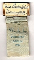 pin: Mrs. Cederfeld, Denmark; ribbon: W.I.L.; Congress; Dublin; 1926