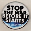 Stop The War Before It Starts; Seattle Coalition For Peace in the Middle East