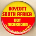 Boycott South Africa; Not Nicaragua; Clergy & Laity Concerned