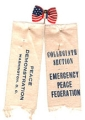 ribbon on left: Peace Demonstration; Washington,D.C.; ribbon on right: Collegiate Section;...