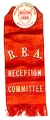 pin: Religious Education Association. Boston. 1905 [pin]. R.E.A. Reception Committee [ribbon]