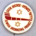 Seek Justice; Jewish Organizing Project; [some words in Hebrew]