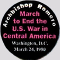 Archbishop Romero; March to End the U.S. War in Central America; Washington, D.C.; March 24, 1990