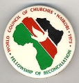 World Council of Churches; Nairobi; 1975; Fellowship of Reconciliation