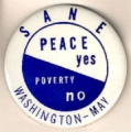 Sane; Peace Yes; Poverty No; Washington-May