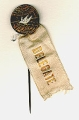 pin: 4th American Peace Congress; St. Louis; May 1,2,3, 1913; Ribbon: Delegate