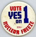 Vote Yes on 1; Nuclear Freeze