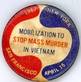 Mobilization to Stop Mass Murder in Vietnam; 1967; New York; San Francisco; April 15