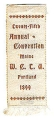 Twenty-Fifth Annual Convention; Maine  W.C.T.U.; Portland; 1899