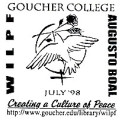 WILPF; Goucher College; Augusto Boal; July '98; Creating A Culture Of Peace;...