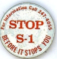 Stop S-1 Before It Stops You; For Information Call 247-4055