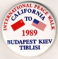 International Peace Walk. California to Budapest Kiev Tiblisi. 1989