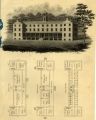 Haverford College — Founders Hall, view and plan