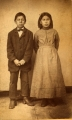 Great Nemaha Indian Agency — Joseph Ambler and Lizzie Cleaver, schoolchildren