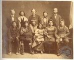 Portrait of Pawnees with advocates at the time of the McMurtree Trial
