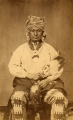 To-hee (Brier); Iowa chief — seated, Indian dress