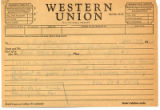 Receipt of Telegram to the Honorable Brooks Hays