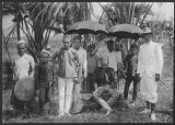 A Moro datu with his wife and retinue